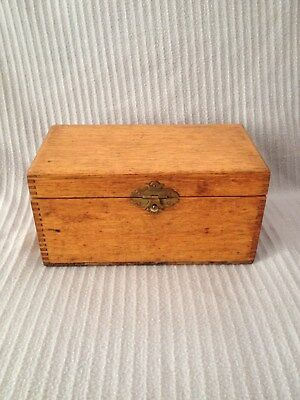 Antique Oak, Dove-Tailed, Document Box With A Metal Clasp, C.1900