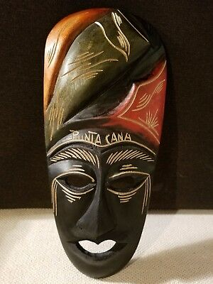 Hand Carved Wooden Mexican Tribal Mask-Punta Cana