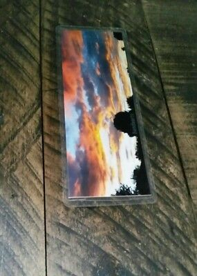 Utah Picture marker Bookmark Laminated Handmade Sunset Electric Clouds Sky Color