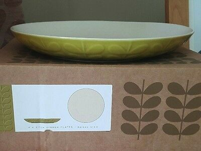 Brand New Set of 3 Orla Kiely Raised Stem Dinner Plates & Brand New Set of 3 Orla Kiely Raised Stem Dinner Plates