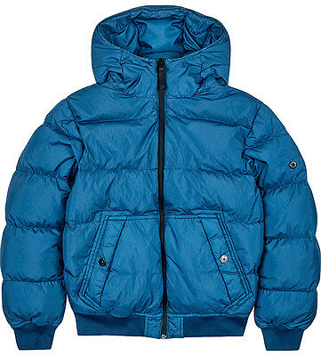 BNWT Boys Stone Island Blue Down Puffer Quilted Jacket 10Yrs