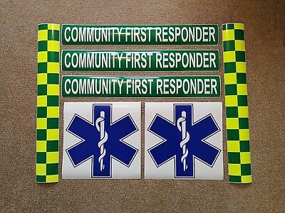 Community First Responder Magnet Magnetic Rescue Ambulance Paramedic KIT PACKAGE