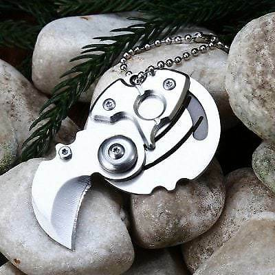 5Cr13Mov Stainless Steel Mini Knife Pocket Blade-SILVER