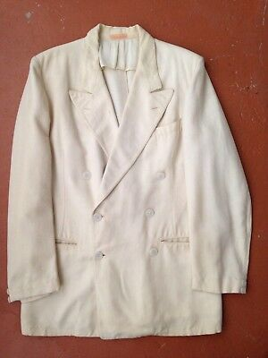 Vintage 1930's Palm Beach Jacket Double Breasted Tailored Great Gatsby Size 38