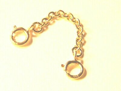 """9ct Yellow Gold Safety/ Extension Chain  1-1/2""""- Extender 4 Bracelet- Necklaces"""