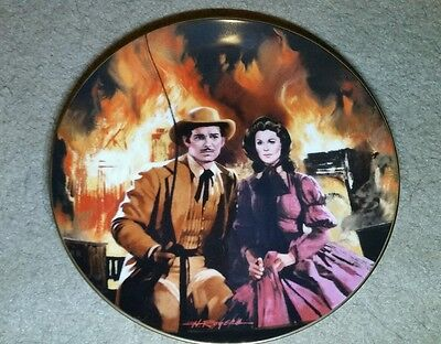 The Burning of Atlanta Collectible Plate - Gone with the Wind MGM 1988
