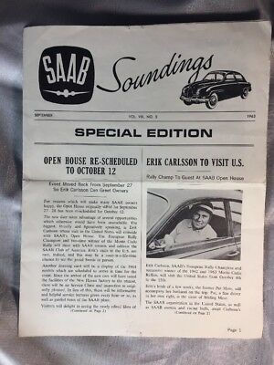 1963 Saab Soundings - The Magazine for Saab Owners -  Volume 7, Number 5