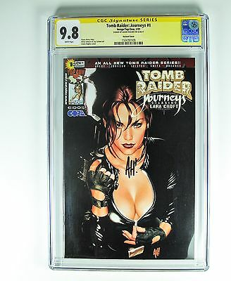 Tomb Raider Journeys 1 CGC 9.8 Busty Variant Cover signed by Adam Hughes