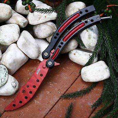 CIMA HR001 Butterfly Knife-RED