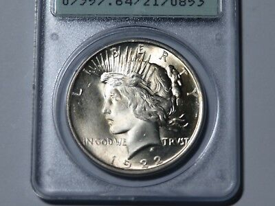 1922 Peace Dollar PCGS MS64 CAC, Old Rattler Holder
