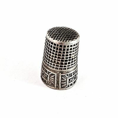 Antique Silver Sewing Thimble Marked .800 - 1900-1940, Baskets