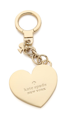NEW with Tag KATE SPADE NEW YORK Things We Love Heart Keychain Bag Charm