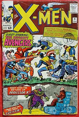 X-Men 9 Marvel Silver Age 1965 Avengers vs The X-men