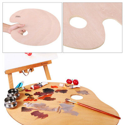 Professional Wooden Palette for Artist Watercolor Oil Paintiing Art Supplies ark