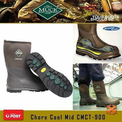 Muck Boot Chore Cool MID Plain Toe Work Boot w/ Xpress Cool Hunting Waterproof