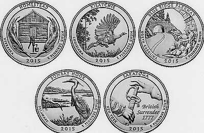 2015 American the Beautiful National Parks Quarter Set (10 coins) BU *IN HAND*