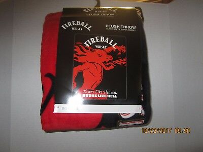 Fireball Whisky Plush Throw Super Soft & Super Cuddly 48 X 60 New!!!