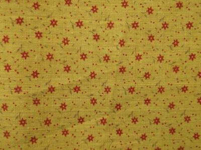 ~Back In Time Textiles~ Antique 1890 Chrome Yellow Calico fabric 32 x 8