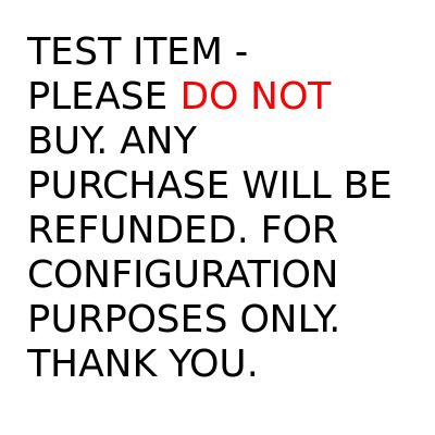 Test Wallet - Please DO NOT Buy. Purchases Will Be Refunded. Thank You.