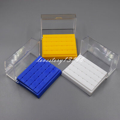 24 Holes Dental Burs Drill Holder Stand Block Disinfection Case Plastic 3 Colors