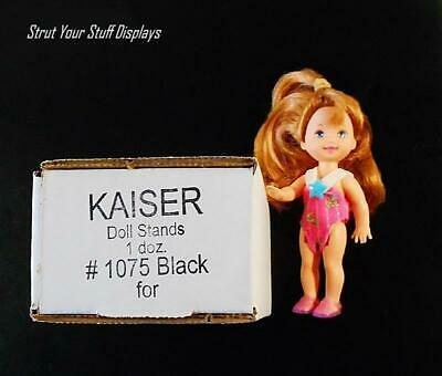 "1 doz KAISER #1075 BLACK Mini Stands Fit 3.5""-5"" tall doll KELLY,TOMMY,4.5""NANCY"