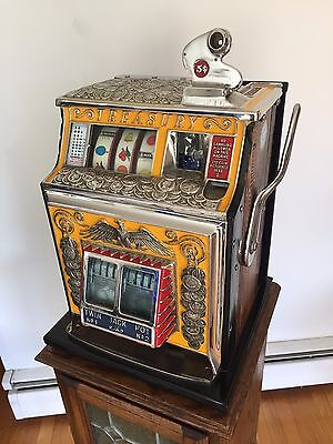 1936 WATLING TREASURY 5c SLOT MACHINE