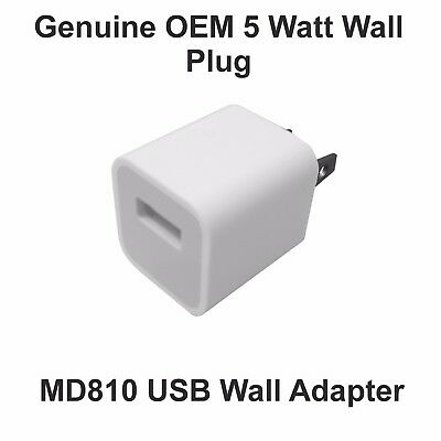 New Genuine OEM 5W USB Adapter Wall Charger for Apple Iphone 5, 6,7, MD810LL/A