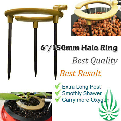 Pickup Hydroponics Hydo Water Ring 6-Inch Shower Irragation With 3 Stakes