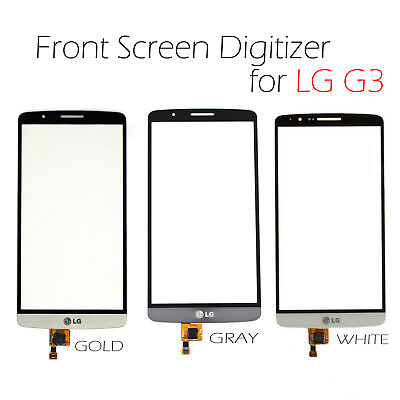 New Touch Front Outer Glass Screen Lens Digitizer For LG G3 Replacement Part