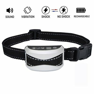 No Barking Control Anti Bark Pet Dog Training Shock Collar Rechargeable E-Collar