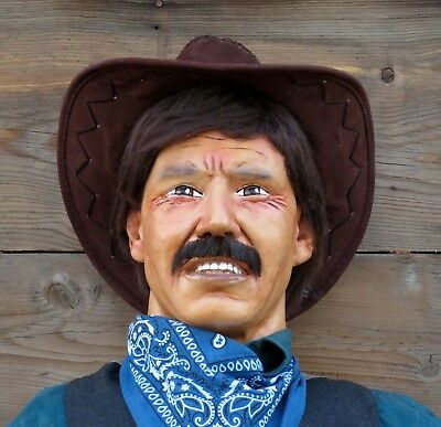 Life Size Poseable Old Western Cowboy Mannequin Cowboy , Dummy Statue Prop