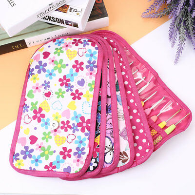 Pouch Knitting Crochet Case Hook Yarn Holder Nylon Storage Organizer Print Bag