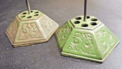 TWO RARE Antique Vintage CAST IRON Resturant Order Up Ticket Holder 1800s