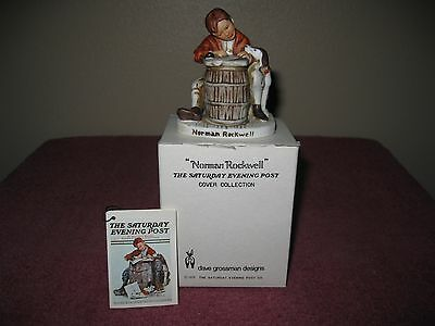 "Norman Rockwell Collection Figurine ""love Letter "" - Saturday Evening Post"