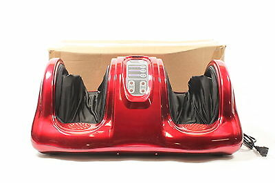 Zeny Shiatsu Kneading Rolling Foot Massager Remote Control Personal Care Red