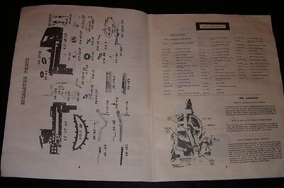 Jennings parts manual or catalog for old mechanical antique slot machine