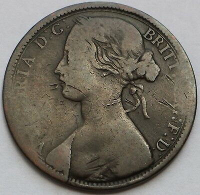 Uk Britain 1 Penny Victoria 1862