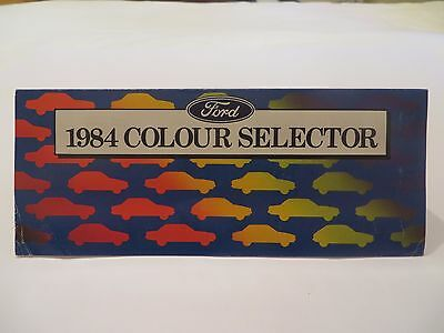 Ford Australia 1984 Colour Selector Pamphlet
