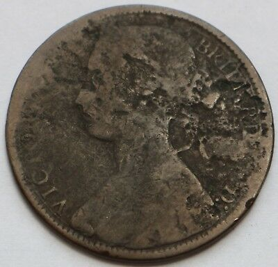 Uk Britain 1 Penny Victoria 1867