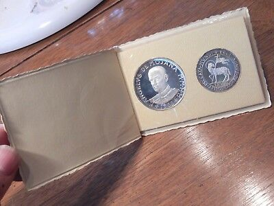 Military / Sovrano Ordine Di Malta / Sterling Silver Proof / Two (2) Coins Brili