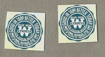 Watling non sticker pr. water slide decals for antique slot machine restoration