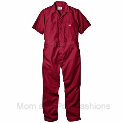 Mens DICKIES #3399 COVERALLS RED, Gray and Tan Sizes in Desc. Msg size w/ offer!