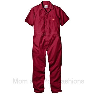 Mens DICKIES #3399 COVERALLS RED(S-XXXL mostly tall) and GRAY(Lrg. and smaller)