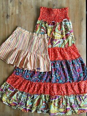 Girls FRED BARE Size 12 / NEW WAVE Size 8 Boho Dress Bundle