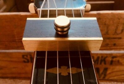 Brass Capo Dobro Resonator  Weissenborn Lap Steel By Woodshed Capo's