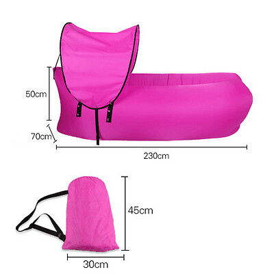 Air Inflatable Sofa Bed Lazy Sleeping Camping Bag Beach Hangout Couch Windbed