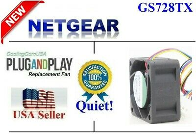 Quiet version 2x replacement fans for NETGEAR ProSAFE S3300-28X - GS728TX