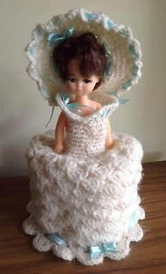ORIGINAL VINTAGE RETRO KITSCH TOILET ROLL COVER HANDMADE COLLECTABLE DOLL 1950's