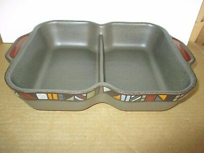Denby Pottery Marrakesh Divided Serving Dish Seconds Quality Very Good Condition