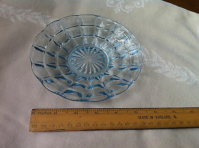 Shallow glass dish - victorian? White/very pale blue glass